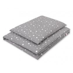 Gyerek-és ovis ágynemű huzat - Mini fehér csillagok