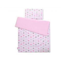 Gyerek-és ovis ágynemű huzat - Rózsaszín csillagok