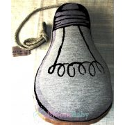 Kézműves designer formapárna - Le Petit foszforeszkáló körte