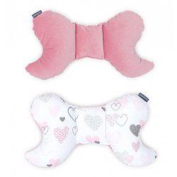 Pillangó párna - Szívecskék rózsaszín velvettel