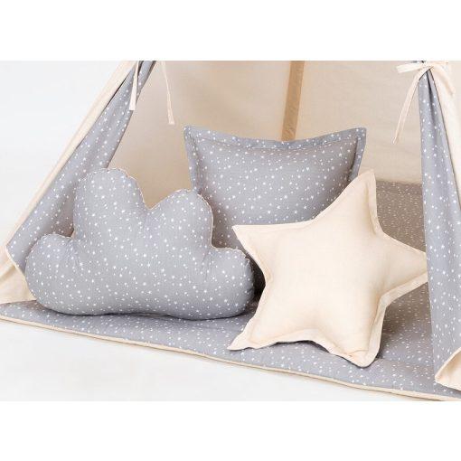 Dreamy formapárna szett - Mini szürke csillagok bézzsel
