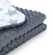 Dreamy babaágynemű szett - Csillagmix szürke minkyvel