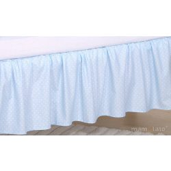 Ágyszegély hímzett ágynemű - Kék