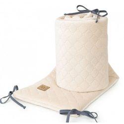 Rácsvédő - Homok színű steppelt bársonyos velvet