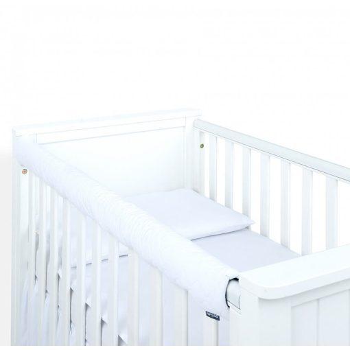 Dreamy fog védő huzat babaágyra - Fehér steppelt velvet