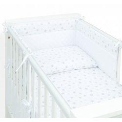 Dreamy 3 részes babaágynemű - Ezüst csillag fehér velvettel