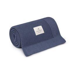 Best pamut kötött takaró - Navy kék
