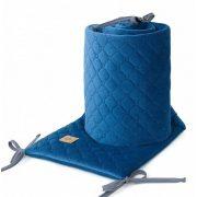 Rácsvédő - Navy kék színű steppelt bársonyos velvet
