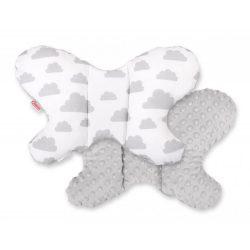 Pillangó párna - Felhők szürke