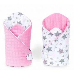 Velvet steppelt pólya - Csillagmix rózsaszín steppelt velvettel