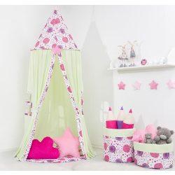 Pitypangok lila függő indián sátor
