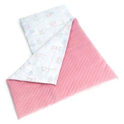 Velvet nyuszik-szürke steppelt bársonyos alvó matrac