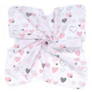 Dreamy 3  darabos muszlin törlőkendő csomag  - Szívecskék