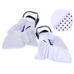 Babaülés-és babakocsi takaró - Pöttyös kék