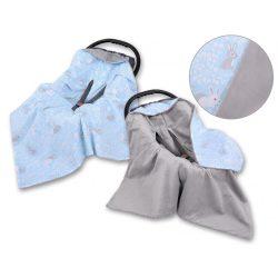 Babaülés-és babakocsi takaró - Nyuszik kék
