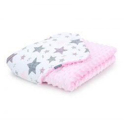 Gyerek minky takaró - Csillagmix rózsaszín