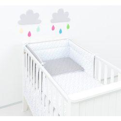 Dreamy 3 részes babaágynemű - Mini szürke csillagok