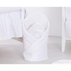 Klasszikus fehér minky pólya