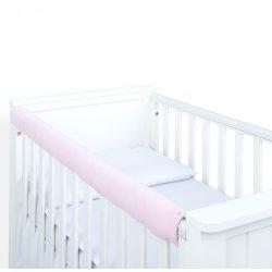 Babaágy keret védő - Világos rózsaszín steppelt velvet