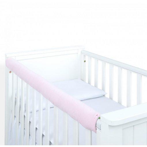 Dreamy fog védő huzat babaágyra - Világos rózsaszín steppelt velvet