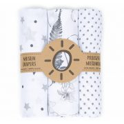 Dreamy muszlin textil pelenkacsomag - Szürke variáció