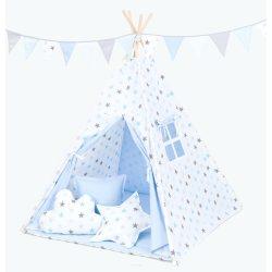 Sima rózsaszín-szürke TIPI indián sátor