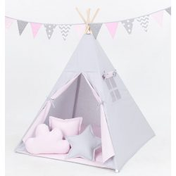 TIPI indián sátor - Rózsaszín és szürke