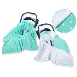 Harmony babaülés-és babakocsi takaró - Csillagok menta