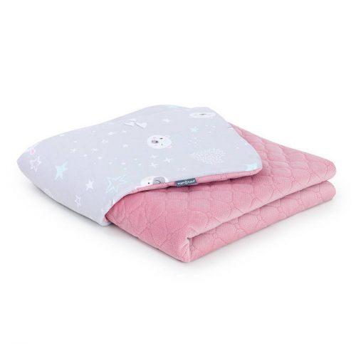 Dreamy babatakaró - Jegesmedve szürke rózsaszín velvettel
