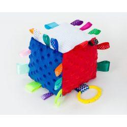 Dreamy kocka címkejáték -  piros és sötétkék minkyvel