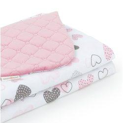Steppelt bársonyos velvet takaró - Szívecskék rózsaszín velvettel