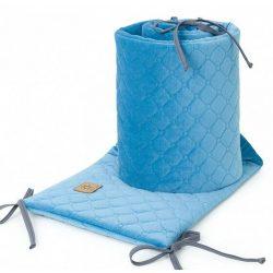 Rácsvédő - Kék színű steppelt bársonyos velvet