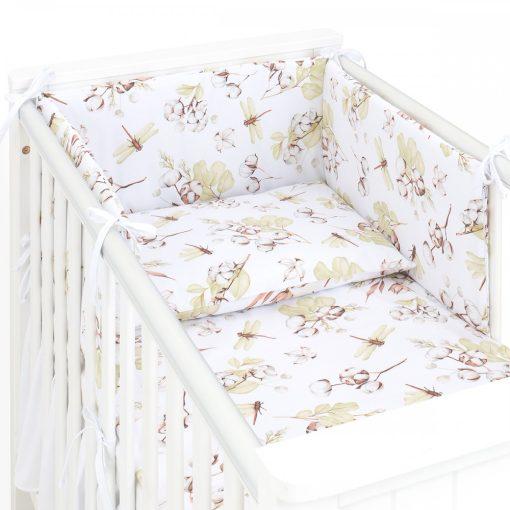 Dreamy babaágynemű garnitúra 3 részes szett - Steppelt rózsaszín