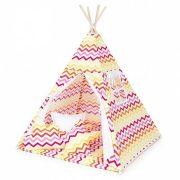 Dreamy TIPI indián sátor - Cikk cakk narancs