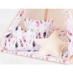 .TIPI formapárna - Pink tollak bézzsel