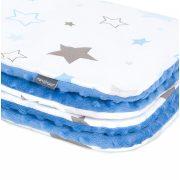 Maci párna és minky takaró szett - Csillagfény kék minkyvel