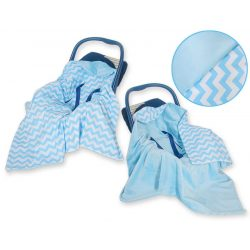 Harmony babaülés-és babakocsi takaró - Cikk cakk kék