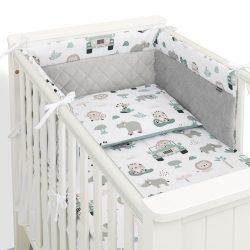 Dreamy 3 részes babaágynemű - Felhők rózsaszín minkyvel