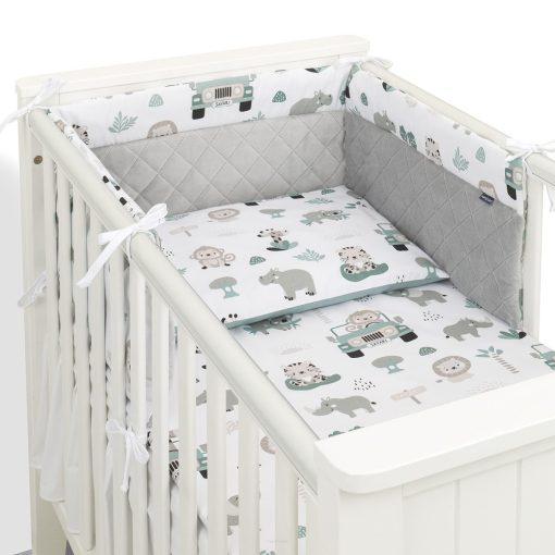 Dreamy babaágynemű 3 részes szett minkyvel - Felhők rózsaszín