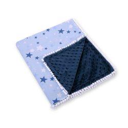 Minky takaró - Csillagok kék fehér