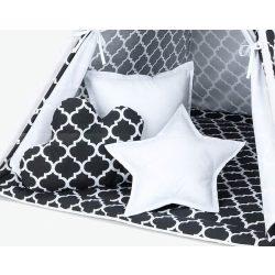 Marokkó fekete-fehér formapárnák