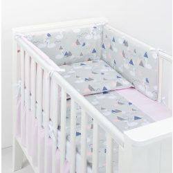 Csillag rózsaszín LUX ágynemű rácsvédő