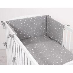 Harmony 3 részes 90x120cm babaágynemű szett - Mini fehér csillagok