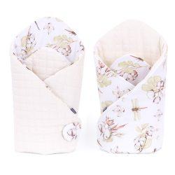 Dreamy velvet pólya - Rózsakert rózsaszín velvettel