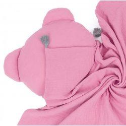Dreamy muszlin babatakaró és párna szett - Rózsaszín