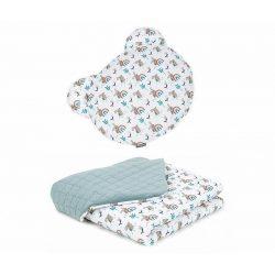 Dreamy Maci párnás babaágynemű szett  - Nyuszik kheki velvettel