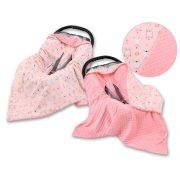 Harmony babaülés-és babakocsi takaró - Balerina nyuszik rózsaszín