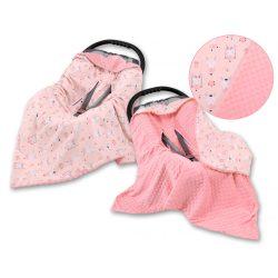 Babaülés-és babakocsi takaró - Balerina nyuszik rózsaszín