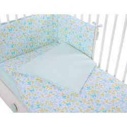Harmony 3 részes babaágynemű - Kék pillangók