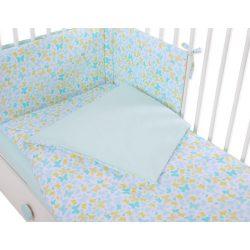 Harmony 3 részes 90x120cm babaágynemű szett - Kék pillangók